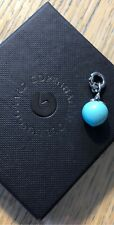 Rare Ole Lynggaard Sterling silver and turquoise dew drop charm