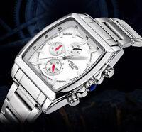 Superbe Montre Classique Sport Quartz Japonais Homme LONGBO Bracelet Métal PROMO
