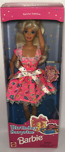 Sealed New 1996 Mattel Birthday Surprise Barbie Doll Special Edition 16491 NRFB
