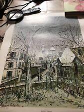 Sacre Coeur De Montmartre Print  Maurice Utrillo 1964