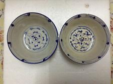 Vintage Blue & White Batik Bowl x 2 pcs
