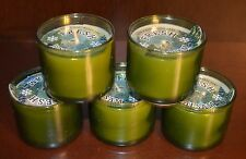 5 BATH BODY WORKS FRESH BALSAM SCENTED MINI CANDLE 1.3 OZ SMALL GREEN GLASS LOT