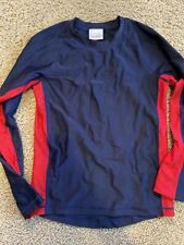 Hannah Anderson Size 150/Us 12 Long Sleeve Navy And Red Rashguard