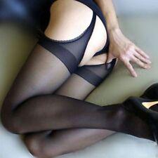 Women's Pantyhose Four Open Crotch Stockings Silk Stocking Elastic Stockings