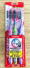 Colgate Toothbrush Pack 3 PCS Charcoal-Infused Black bristles Slim Ultra Soft