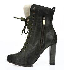 Donald J Pliner Womens Thet Green Leather Size 8.5 High Heel Booties NEW 228993