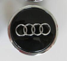 1x rueda de la aleación Centro centro de la PAC Para Audi A3 A4 A5 A6 Tt Rs4 Q5 Q7 Negro 68 mm