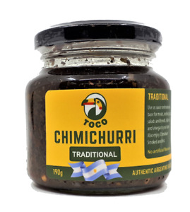 Toco Chimichurri Traditional Gourmet Sauce 190g   Produced in Argentina