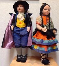 Two Rare Collectible I Magnin Dolls With Embroidered Tags On Wrists