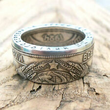 Coin ring USSR-One ruble 1924-Silver coin ring-Souvenir from USSR - Soviet Union