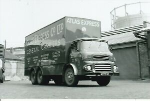 B/W PHOTO: ATLAS EXPRESS ALBION 6 WHEEL BOX VAN - 4377 RE