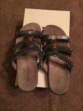 Leather Slip On Slim Heel Casual Sandals for Women