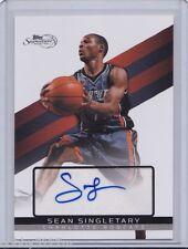 2008-09 Topps Signature Autographs Sean Singletary Card #TSA-SS 1579/1999
