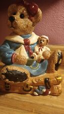 1998 Boyds Collection Bailey Bear On Suitcase Cookie Jar Edition 2E/1352