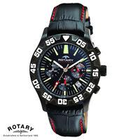 Rotary . GS00201/04 . Aquaspeed . Armband Uhr Herren . Chronograph . Leder . NEU