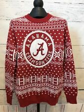 NWOT Alabama Crimson Tide Campus Specialties Mens Sz Small Red White Sweater E4