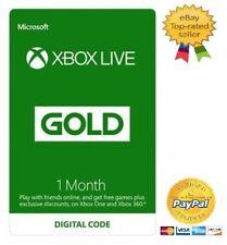 Xbox LIVE Gold 1 Month Membership - Microsoft Xbox One / Xbox 360 - Digital Key