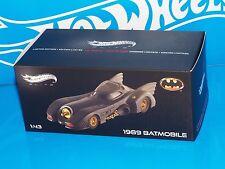 Hot Wheels 2013 ELITE Series 1989 Batmobile 1:43 Scale Release Sealed Box NEW