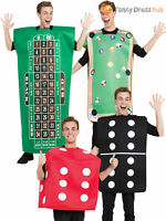 Adult Domino Pool Roulette Dice Costume Men Casino Stag Party Fancy Dress Outfit