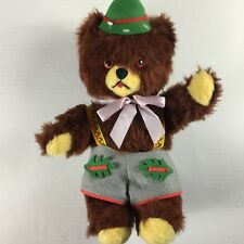 """Old Vintage Yodel Bear Light Firm Stuffed 16"""" Toy Collectible Switzerland Swiss"""