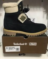 "Kith Timberland Shearling 6""  Boot  size 10 Navy 40 Below  Ronnie Fieg"