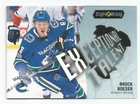 2017-18 UD Synergy Exceptional Talent #ET31 Brock Boeser Vancouver Canucks