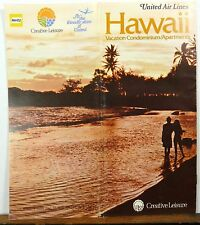 1971 Hawaii United Airlines brochure vacation condo apartment travel guide b