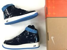 Vtg 2003 Men Nike Air Force 1 Hi AF1 Rasheed Wallace Patent Leather Navy shoes.