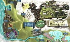 The Legend of Zelda Hyrule MAP - Wall Poster - 20 in x 30 in ( Fast shipping )01