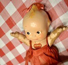 "Antique 12"" Rose O'Neill Kewpie Composition Doll - Circa 1930 Rare with sticker"