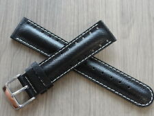 GENUINE ZEITNER LEATHER STRAP WITH STAINLESS STEEL BUCKLE SIZE 20MM