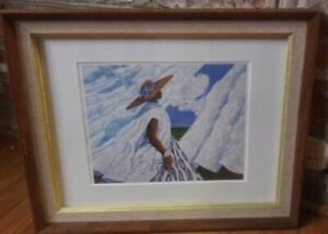 Jonathan Green Print 'WHITE BREEZE' Gullah Woman Mat Frame Lowcountry SC