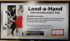 RV/Camper/Trailer - Lend-A-Hand Folding Assist Handle, WHITE