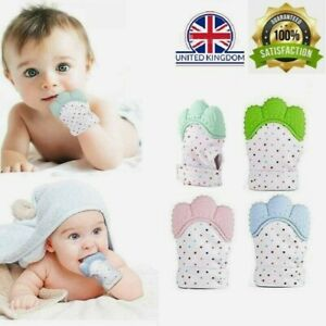 Baby Silicone Teething Mitten Glove Soft Candy Wrapper Teether BPA Free Toddler