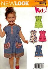 New Look Sewing Pattern 6485 Toddlers Dress Size 1/2-4