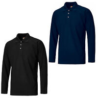 Dickies Long Sleeve Polo Shirt SH21100 Mens Durable 3 Button Work T-Shirt