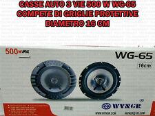 COPPIA DI CASSE AUTO ALTOPARLANTI SPEAKER 500 WATT 16 CM MODELLO WG65 UNIVERSALI
