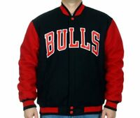 14a929136 Chicago Bulls NBA Jacket Wool Nylon Reversible Varsity TTR5 Mens Bulls