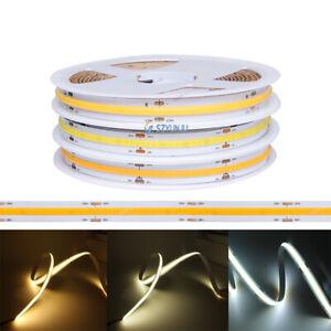 Flexible COB LED strip light DC12V 24V FOB High Density Dimmable Tape white