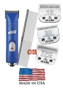 Andis Ultraedge SUPER 2 Speed Clipper SET&10,30,7FC Blades,Comb-PET Grooming Kit