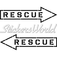 RESCUE Aviation Arrow RAF USAF NATO 180mm Sticker Decal - CHOICE OF COLORS
