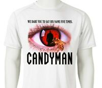 Candyman Dri Fit graphic T-shirt retro 80s horror movie SPF sun shirt active tee