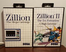 Zillion & Zillion II (2) - Sega Master System - COMPLETE TESTED AND WORKING