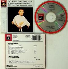 W. GERMANY: SCHUBERT/BEETHOVEN -Piano Works CD -Melvyn Tan (EMI Sonopress)