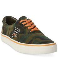Polo Ralph Lauren Men's Thorton Suede Sneakers Shoes Olive Green Camo 7.5D