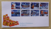 2016 JERSEY FATHER CHRISTMAS SET OF 8 STAMPS FDC FIRST DAY COVER