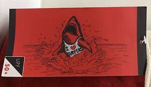 "NEW Pottery Barn TEEN SoCal Surfer SHARK Beach Pool Towel~32 x 64""~ RED"