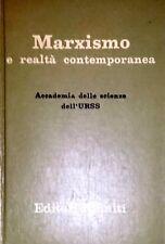 ACCADEMIA DELLE SCIENZE DELL'URSS MARXISMO  REALTà CONTEMPORANEA EDITORI RIUNITI