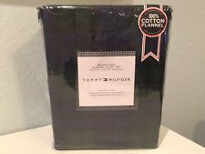 Tommy Hilfiger Bruce Plaid Flannel 3 PC King Duvet Cover Pillow Shams Set