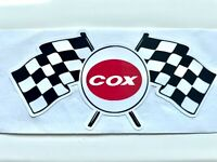 Vintage Style COX Race Flag Logo • Slot Car • Gas Powered • RC • Sticker • Decal